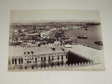 NAYA / VENISE VENEZIA 1870  Panorama  VINTAGE Albumen Print Photo Foto