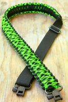 Adjustable Paracord Rifle Gun Sling With Swivels Zombie Apocalypse Walking Dead