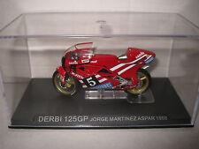 1:22 CHAMPION RACING MOTOR BIKES MOTO GP DERBI 125GP JORGE MARTINEZ ASPAR 1988