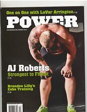 POWER Weightlifting Powerlifting strongman muscle magazine/A.J.Roberts 12-12