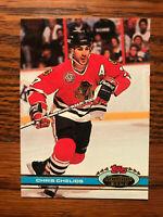 1991 Topps Stadium Club #6 Chris Chelios Hockey Card Raw Chicago Blackhawks
