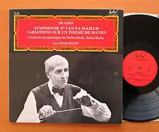 Brahms Symphony no. 2 Haydn Carl Schuricht Festival Classique FC 469 Stereo