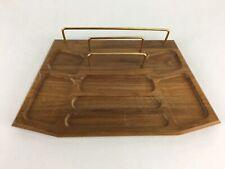 Vintage Mid Century Valet Men's Walnut Storage Wooden Chest Desk Box