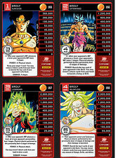 Broly Level 1-4 Main Personality Set MP DBZ Panini + Paragus & Android 13 Ally