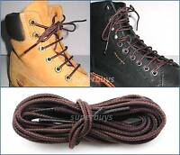 "Brown 90cm Long Hiking Trekking Shoe Work Boot Laces Trek Hike 36"" To 3 Eyelets"