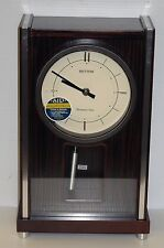 """RHYTHM"" MUSICAL MANTLE CLOCK - RICHMOND, WESTM. CHIMES & 9 MELODIES 4RJA01WU06"