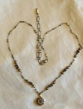 Michal Golan 24K gold + Brown Pearls Beaded Flower necklace Handmade