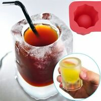 Silicone Cup Ice Cube Tray Mould Bar Jelly Pudding Chocolate Mold Ice Holder