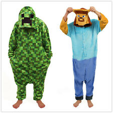 Minecraft Steve Onesie kigurumi costume Felpa con cappuccio Pigiama pigiama