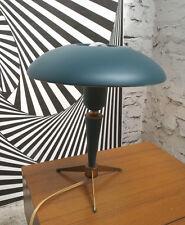 LOUIS KALFF ATOMIC UFO TABLE LAMP LAMPE LEUCHT PHILIPS 50s GREEN + BRASS LAITON