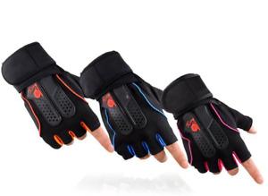 Fishing Gloves Half Finger Waterproof PU Durable Anti Slip Fingerless Glove Red