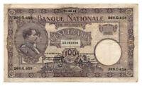 BELGIUM banknote 100 FRANCS 1921. VF