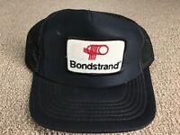 Vintage Patch Hat Trucker Mesh Bondstrand Composite Solutions Black Snapback Cap