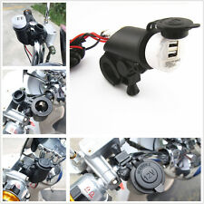 Waterproof Motorcycle Cigarette Lighter + Two USB Power Port 12V Kit For Suzuki