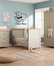 Personalised Dumbo Baby nursery Disney Inspired wall art Sticker vinyl Decal