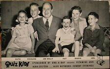 1946 Quiz Kids Radio and TV game show advertising postcard