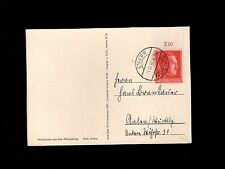 Germany Hitler Birthday Cancel & Stamp Ginger 1938 VDC Calendar Postcard 8p