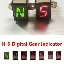 LED Universal Digital Gear Indicator Motorcycle Display Shift Lever Senso N-6
