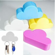4 Creative Home Kit Cute Cloud Shape Magnetic Key Hook Wall Hangers Holder Decor