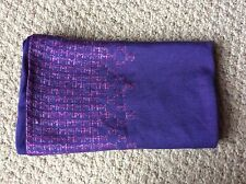 MISSONI FOULARD Purple Pullover Scarf Made in Italy Gorgeous Purple