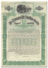 Kansas City Northwestern Railroad Company Bond Certificate