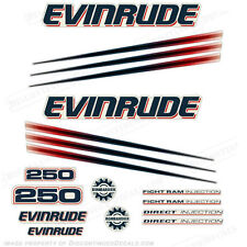 Evinrude 250hp Bombardier Outboard Decal Kit - 2002-2006 Engine Stickers