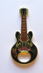 Elvis Presley  Bottle Opener/Magnet  Guitar Shaped-  black red gold