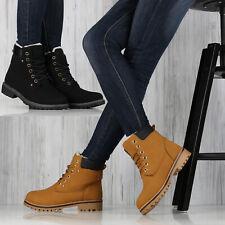 Damen Stiefeletten Nieten Worker Boots 892292 Top