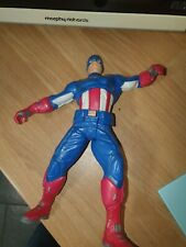 MARVEL 10 INCH POWER ATTACK / TALKING CAPTAIN AMERICA / MISSING SHEILD