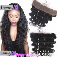 "13x2"" Brazilian Body Wave Full Lace Frontal Closure 100% Remy Human Hair 3 Parts"