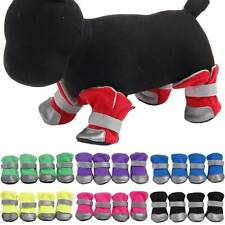 New listing 4Pcs Booties Breathable Anti-Slip Pets Dog Soft Shoes Protective Puppy Boot Sock