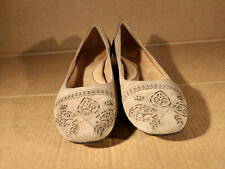 Nurture Adalin Womens Tan Comfort Flats Suede Leather Upper/Lining Sz 10 M