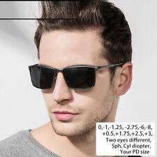 Men's Polarized Sunglasses Diopter Polarized Prescription UC400 Retro Eyeglasses