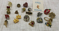 Lot Of 22 Vintage Religious Tack Pins Crosses Angels Fish (Ichthys) Christianity