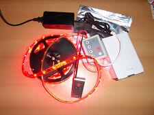 5m RGB LED Streifen Stripe dimmbar 5050 SMD wasserdicht mit Funkfernbedienung