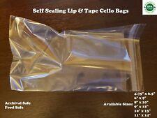 Self Seal Cello Plastic Bags Clear Flap Lip Amp Tape 16 Mil Shirt Apparel Food