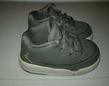 Baby Boys Nike Air Jordan Flight Shoes Size 5c Gray White