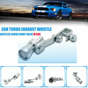 Auto Turbo Sound Endrohr Auspuff Turbopfeife Whistle Blow Off Simulator Silber M