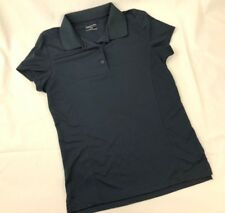 Maggie Lane Golf Shirt Polo MEDIUM Navy Blue Athletic Top Short Sleeve Collar