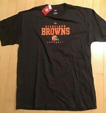 Cleveland Browns NFL Team Apparel Men's Brown/Orange T-Shirt Size L NWT