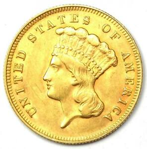 1878 Indian Three Dollar Gold Coin ($3) - Uncirculated Details (UNC MS) - Rare!