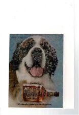 Vintage Chivas Regal Scotch Whisky Happy St. Bernard Dog Snow Ad Print #C045