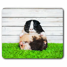 Computer Mouse Mat - Cute Fat Guinea Pig Pet Rodent Office Gift #16771