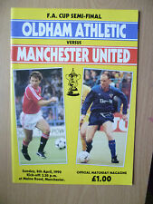 1990 FA CUP SEMI FINAL- OLDHAM ATHLETIC v MANCHESTER UNITED, 8th April