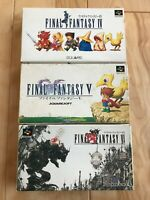 Lot Final Fantasy 4 5 6 SFC Super Famicom SNES NTSC-J CIB JAPAN Import Test