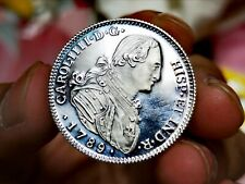 Spain 4 Escudos 1789 Charles IIII Silver .999 Medal Proof Bold Strike INFO