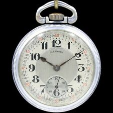 1925 ILLINOIS 17 Jewel Pocket Watch RR Style Large 16s Grade 305 Montgomery Dial