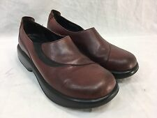 DANSKO Womens 42 OCCUPATIONAL Shoes SLIP ON MADE IN MOROCCO BROWN LEATHER EUC