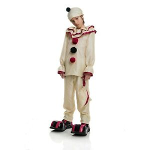 Child's Boys Horror Creepy Scary Carnival Circus Clown Costume Size XSmall (4-6)