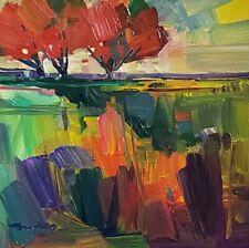 JOSE TRUJILLO Oil Painting LANDSCAPE TREES ORIGINAL 12X12 CONTEMPORARY ARTIST